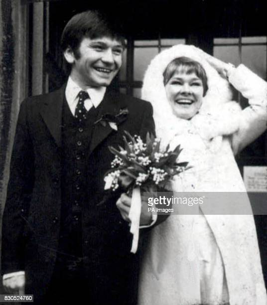 Actor Michael Williams on the day that he wed actress Judi Dench at St Mary's church Holly Place Hampstead 12/01/01 Williams has died after a long...