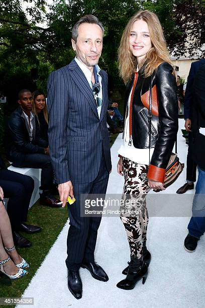 Actor Michael Wincott and Natalia Vodianova attend the Berluti show as part of the Paris Fashion Week Menswear Spring/Summer 2015 Held at 'Ecole des...