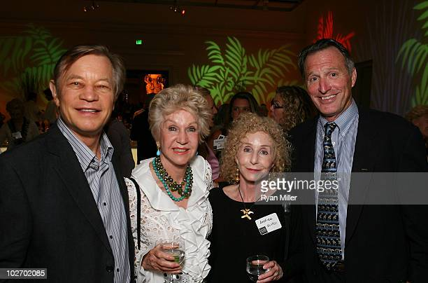 Actor Michael York and artist Pat York Nasher Sculpture Center Founder Andrea Nasher and Chariman of the Board of Trustees NHM Paul Haaga pose during...