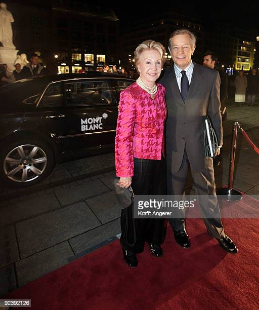 Actor Michael York and his wife Pat attend the Prix Montblanc Gala concert on October 27 2009 in Berlin Germany