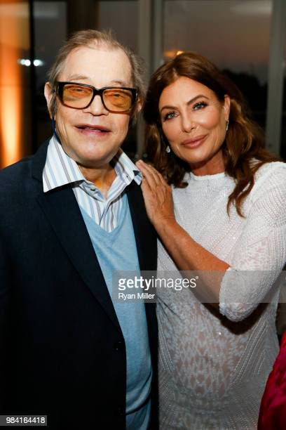 Actor Michael York and model/actress Kelly LeBrock attend Icons of Style A Century of Fashion Photography 19112011 exhibition opening at The J Paul...
