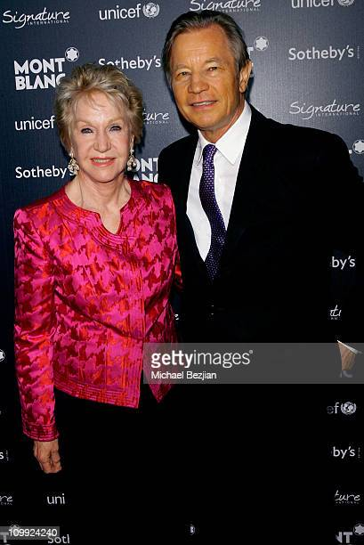 Actor Michael York and Patricia McCallum arrive at the Charity Auction Gala to benefit UNICEF hosted by Montblanc at the Beverly Wilshire Four...