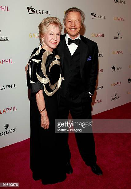 Actor Michael York and Patricia McCallum arrive at the Los Angeles Philharmonic Opening Night Gala held at Walt Disney Concert Hall on October 8 2009...
