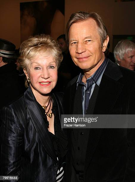 Actor Michael York and Patricia McCallum pose at the Gagosian Gallery opening reception for Julian Schnabel's exhibition of recent paintings on...