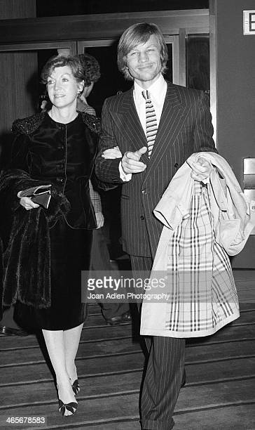 Actor Michael York and wife Pat attend the opening night dinner reception for 'Evita' at Chasen's Restaurant on January 13 1980 in Beverly Hills...
