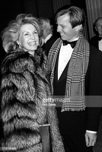 Actor Michael York and wife Patricia McCallum attend Metropolitan Museum of Art Costume Institute Exhibit Costumes of Royal India on December 9 1985...