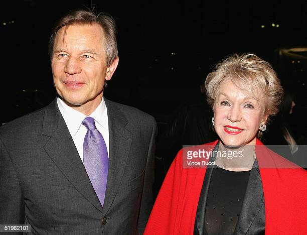 Actor Michael York and wife Patricia McCallum attend the Hallmark Channel's TCA Press Tour party on January 13 2005 at The Ebell Club in Los Angeles...