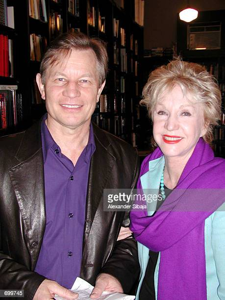 Actor Michael York poses with his wife Pat during a booksigning appearance for his new book Dispatches From Armageddon Making The Movie MegiddoA...