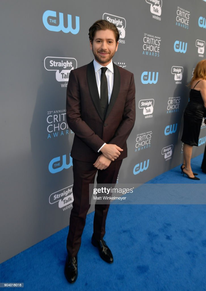 Actor Michael Zegen attends The 23rd Annual Critics' Choice Awards at Barker Hangar on January 11, 2018 in Santa Monica, California.