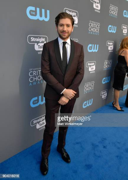 Actor Michael Zegen attends The 23rd Annual Critics' Choice Awards at Barker Hangar on January 11 2018 in Santa Monica California
