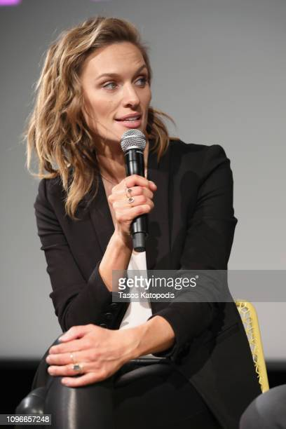 Actor Michaela McManus speaks onstage at The Village screening during SCAD aTVfest 2019 at SCADshow on February 9 2019 in Atlanta Georgia