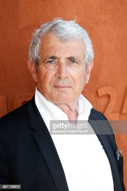 Actor Michel Boujenah attends the 2017 French Tennis Open Day Five at Roland Garros on June 1 2017 in Paris France