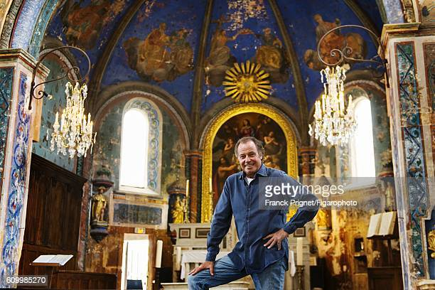 Actor Michel Leeb is photographed for Le Figaro Magazine on June 15 2016 in the renovated church of Oppede le Vieux in Oppede France CREDIT MUST READ...