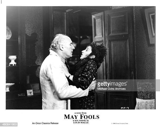 Actor Michel Piccoli and actress Martine Gautier in a scene from the movie May Fools circa 1990