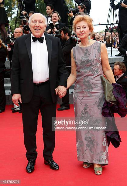 """Actor Michel Piccoli and Ludivine Clerc attend the """"Saint Laurent"""" Premiere at the 67th Annual Cannes Film Festival on May 17, 2014 in Cannes, France."""