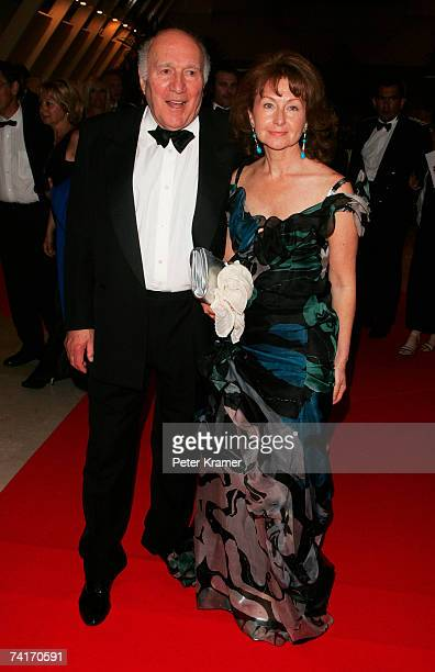 Actor Michel Piccoli and wife Ludivine Clerc arrive at 'My Blueberry Nights' party at the Palais des Festivals during the 60th International Cannes...