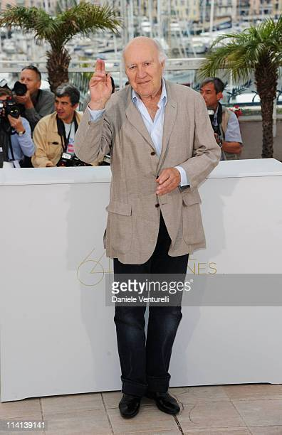 Actor Michel Piccoli attends the Habemus Papam Photocall during the 64th Annual Cannes Film Festival at the Palais des Festivals on May 13 2011 in...