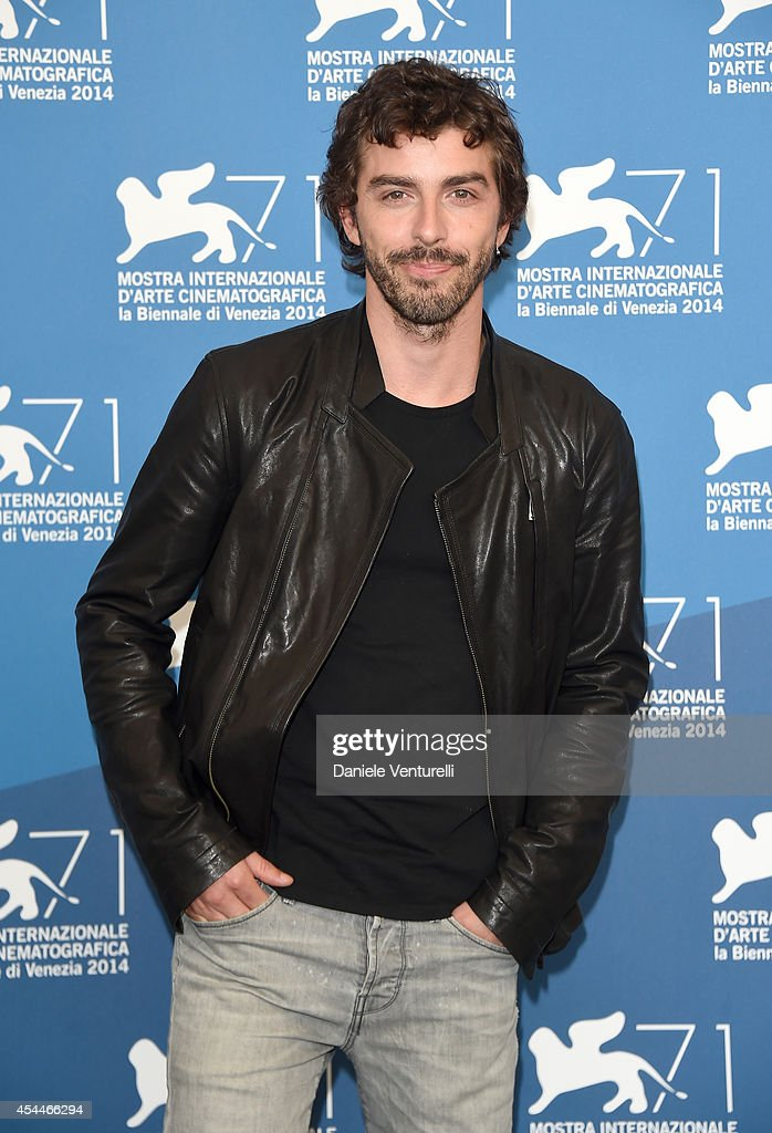 Actor Michele Riondino attends 'Il Giovane Favoloso' Photocall during the 71st Venice Film Festival at Palazzo Del Casino on September 1, 2014 in Venice, Italy.