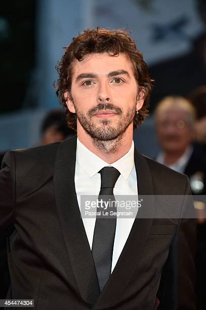 Actor Michele Riondino attends the 'Il Giovane Favoloso' Premiere during the 71st Venice Film Festival on September 1 2014 in Venice Italy