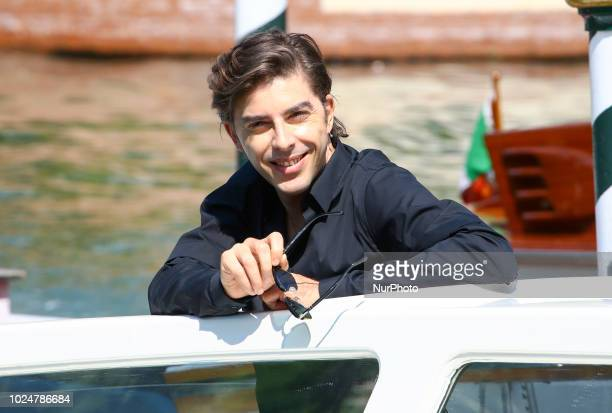 Actor Michele Riondino is seen arriving at the 75th Venice Film Festival at Darsena Excelsior on August 28 2018 in Venice Italy