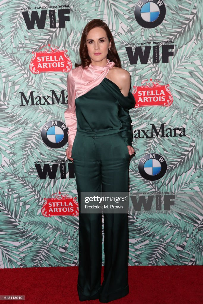 Actor Michelle Dockery attends the 10th annual Women in Film Pre-Oscar Cocktail Party at Nightingale Plaza on February 24, 2017 in Los Angeles, California.