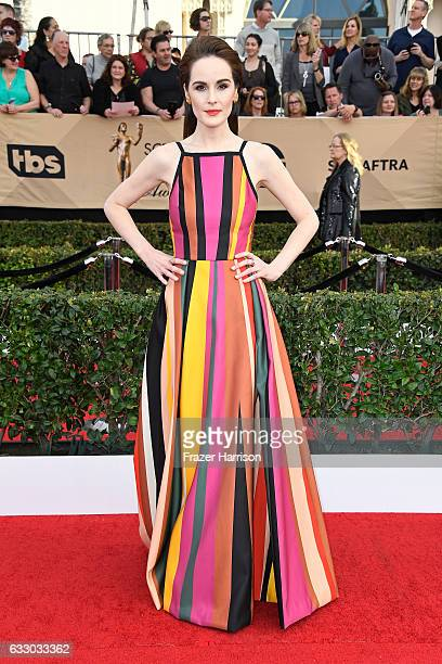 Actor Michelle Dockery attends The 23rd Annual Screen Actors Guild Awards at The Shrine Auditorium on January 29 2017 in Los Angeles California...