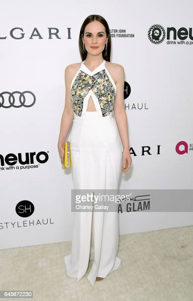 Actor Michelle Dockery attends the 25th Annual Elton John AIDS Foundation's Academy Awards Viewing Party with cocktails by Clase Azul Tequila and...