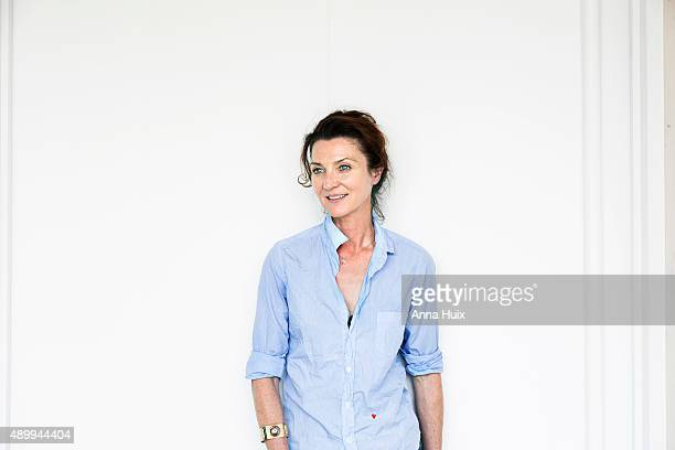 Actor Michelle Fairley is photographed for the Telegraph on July 16 2015 in London England
