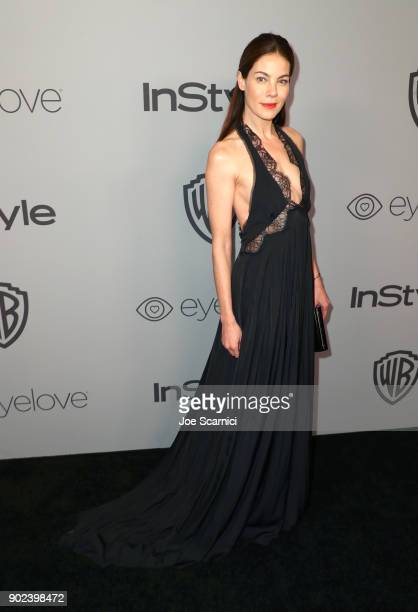 Actor Michelle Monaghan attends the 2018 InStyle and Warner Bros 75th Annual Golden Globe Awards PostParty at The Beverly Hilton Hotel on January 7...