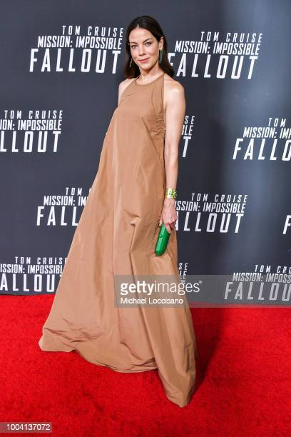 Actor Michelle Monaghan attends the 'Mission Impossible Fallout' US Premiere at Lockheed Martin IMAX Theater at the Smithsonian National Air Space...