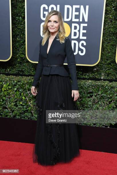 Actor Michelle Pfeiffer attends The 75th Annual Golden Globe Awards at The Beverly Hilton Hotel on January 7 2018 in Beverly Hills California