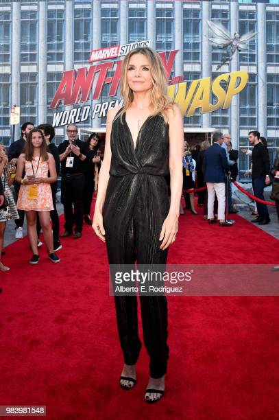Actor Michelle Pfeiffer attends the Los Angeles Global Premiere for Marvel Studios' AntMan And The Wasp at the El Capitan Theatre on June 25 2018 in...