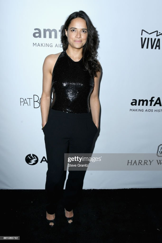 Actor Michelle Rodriguez attends the amfAR Gala 2017 at Ron Burkle's Green Acres Estate on October 13, 2017 in Beverly Hills, California.