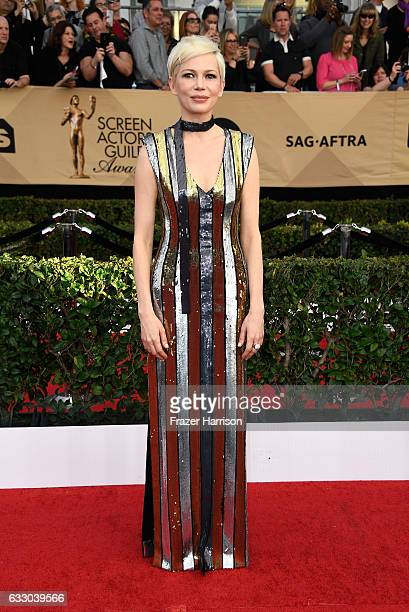 Actor Michelle Williams attends The 23rd Annual Screen Actors Guild Awards at The Shrine Auditorium on January 29 2017 in Los Angeles California...