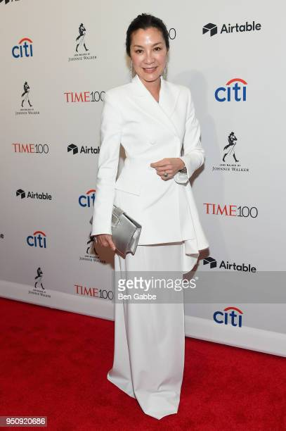 Actor Michelle Yeoh attends the 2018 Time 100 Gala at Jazz at Lincoln Center on April 24 2018 in New York City