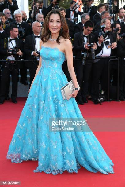 Actor Michelle Yeoh attends the Ismael's Ghosts screening and Opening Gala during the 70th annual Cannes Film Festival at Palais des Festivals on May...
