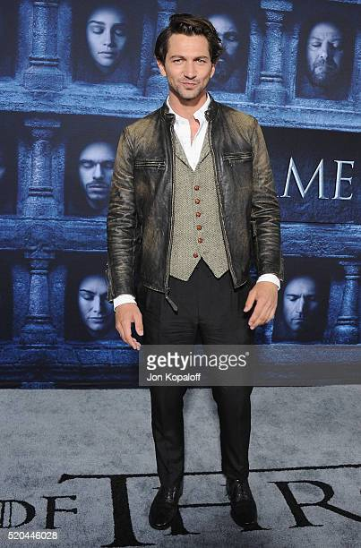Actor Michiel Huisman arrives at the Premiere Of HBO's Game Of Thrones Season 6 at TCL Chinese Theatre on April 10 2016 in Hollywood California
