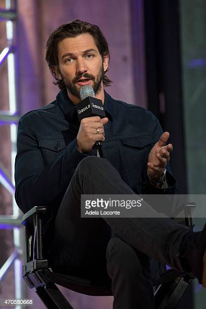 Actor Michiel Huisman attends at AOL Studios In New York on April 21 2015 in New York City