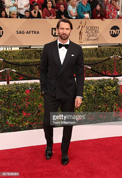 Actor Michiel Huisman attends the 22nd Annual Screen Actors Guild Awards at The Shrine Auditorium on January 30 2016 in Los Angeles California