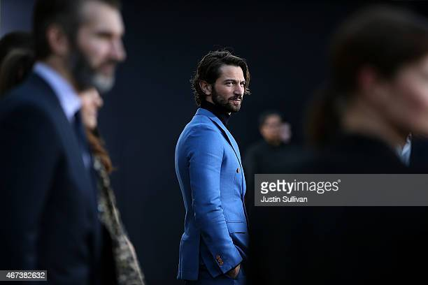 Actor Michiel Huisman attends the premiere of HBO's 'Game of Thrones' Season 5 at San Francisco Opera House on March 23 2015 in San Francisco...