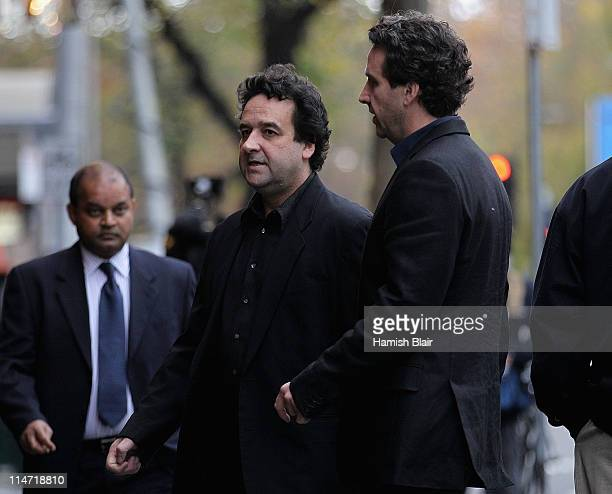 Actor Mick Molloy arrives at the memorial service for Australian actor Bill Hunter at the Princess Theatre on May 26 2011 in Melbourne Australia The...