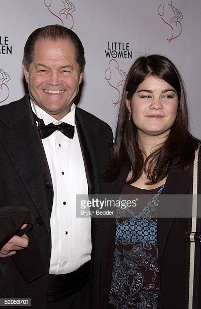 Actor Mickey Dolenz and his daughter Emily arrive to the opening of Little Women The Musical January 23 2005 in New York City