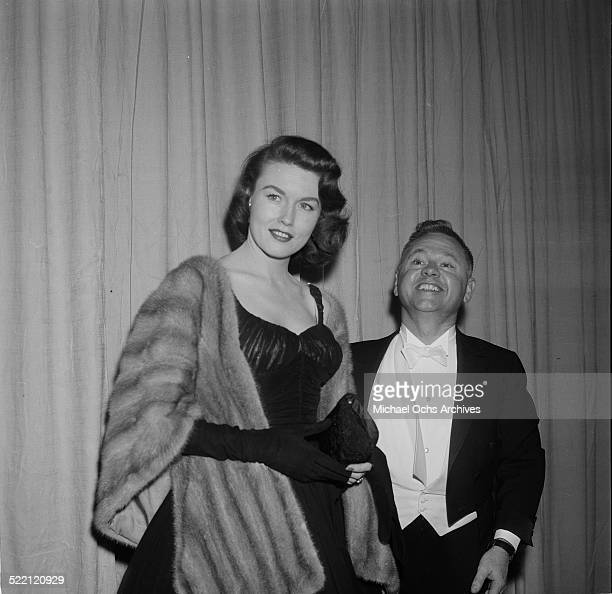 Actor Mickey Rooney and wife Elaine Devry arrive to an event in Los AngelesCA