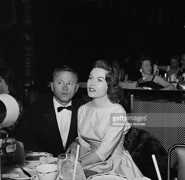 Actor Mickey Rooney and wife Elaine Devry attend an event in Los AngelesCA