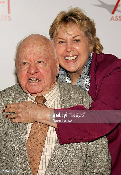 Actor Mickey Rooney and wife Jan Rooney arrive at AFI Associates luncheon honoring Hollywood's Arquette family with the 6th Annual Platinum Circle...