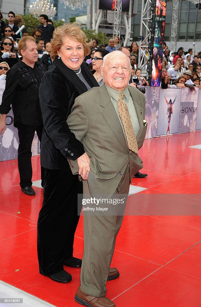 Actor Mickey Rooney arrives at the Los Angeles Premiere of 'This Is It' held at Nokia Theatre L.A. Live on October 27, 2009 in Los Angeles, California.