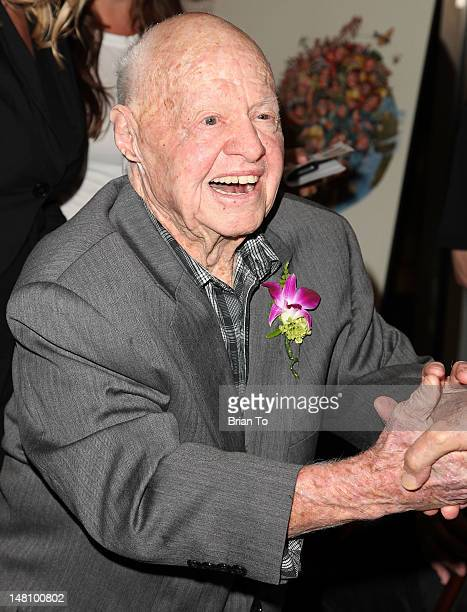 Actor Mickey Rooney attends prereception for 'It's a Mad Mad Mad Mad World' at AMPAS Samuel Goldwyn Theater on July 9 2012 in Beverly Hills California
