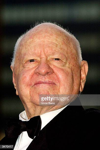Actor Mickey Rooney attends the ceremony honoring him and wife Jan with a star on the Hollywood Walk of Fame on April 26 2004 in Hollywood California