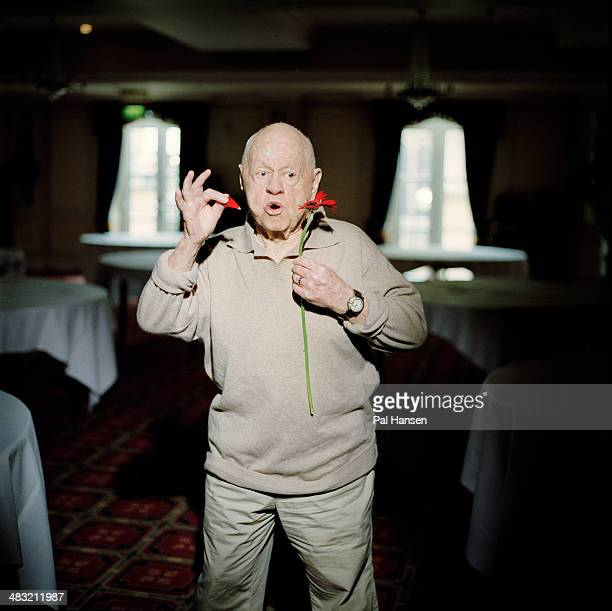 Actor Mickey Rooney is photographed for the Independent on November 19 2008 in London United Kingdom