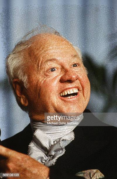 Actor Mickey Rooney poses backstage during the 52nd Academy Awards at Dorothy Chandler Pavilion in Los AngelesCalifornia